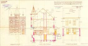 Place de la Grotte 5, Jette, élévations, coupe, ACJette/Urb. 4980, 1927