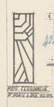 Avenue Jean Vanhaelen 35, Auderghem, détail ferronnerie porte d'entrée, ACAud./Urb. 3618, 1932