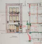 Rue du Mont Saint-Alban 8, Bruxelles Laeken, élévation principale et coupe, AVB/TP 44507, 1933