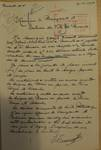 Rue Léopold Ier 244, Bruxelles Laeken, lettre de demande du commanditaire (Joseph Tenaerts) à la Ville de Bruxelles pour la construction d'une maison à deux étages, AVB/TP 54049, 1924