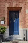 Rue des Augustines 105, Jette, porte d'entrée (© ARCHistory/APEB, photo 2020)