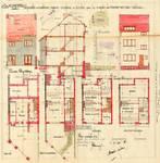 Coghensquare 17A, Ukkel, opstanden, doorsnede, grondplannen, GAU/DS 6355, 1931