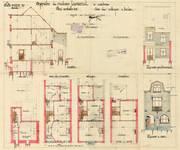 Rue des Cottages 55, Uccle, élévations, coupe, plans, ACU/Urb. 6255, 1931