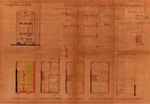 Rue Lincoln 1, Uccle, élévations, coupe, plans, ACU/Urb. 8911, 1935