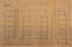 Rue Rouge 1, Uccle, élévations, coupe, ACU/Urb. 9882, 1936