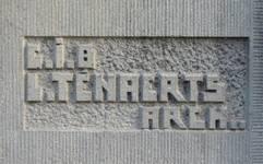 Rue Guillaume Crock 22, Auderghem, signature (© C. Dubois, photo 2020)