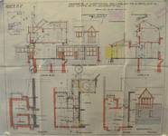 Rue Laneau 88-90, Bruxelles Laeken, plans des agrandissements, AVB/TP 40018, 1929