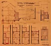 Rue des Glaïeuls 29, Uccle, élévations, coupe, plans, ACU/Urb. 6123, 1931