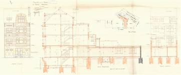 Rue Portaels 42-44, Schaerbeek, élévations, coupe, ACS/Urb. 216/42, 1926