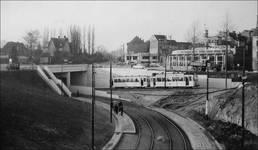 Ancien café-restaurant Au Solarium du Parc, devenu Auberge de la Pergola, avenue des Pagodes 445, Bruxelles Laeken, élévation, photo d'après les transformations de 1956 (© Collection Léon Verreydt)