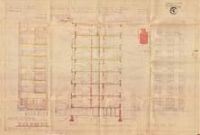 Place Constantin Meunier 20, Forest, élévations, coupe, ACF/Urb. 13127, 1936