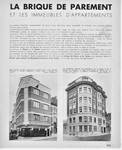 'La Brique de parement et les immeubles d'appartements', dans Bâtir, n°38, janvier 1936, page 533