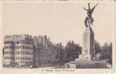 Square Wolvendael (actuel square des Héros), Uccle, photo de la fin des années 1930 (© Collection cartes postales Brussels Art Deco Society)