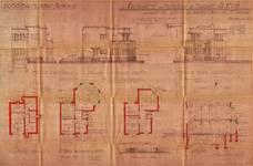 Avenue du Hockey 45, Woluwe-Saint-Pierre, élévations, coupe, plans, ACWP/Urb. 323, 1934
