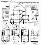 Rue Guillaume Crock 22, Auderghem, élévations, coupe, plans, ACAud./Urb. 3310, 1931