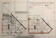 Rue Laneau 2, Bruxelles Laeken, plans des étages, AVB/TP 38029, 1929