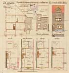 Rue de la seconde Reine 37, Uccle, élévations, coupe, plans, ACU/Urb. 6295, 1931