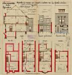 Rue des Glaïeuls 53, Uccle, élévations, coupe, plans, ACU/Urb. 6277, 1931
