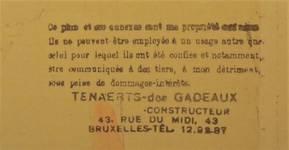 Cachet de Louis Tenaerts sur les plans de l'immeuble avenue Buyl 144-146, 1939, Archives communales d'Ixelles, Urbanisme 4-144-146.